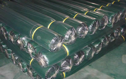 Many rolls agriculture shade net packed with poly bags