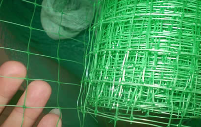 A roll green plant support net opening and its detail